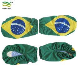 Наиболее популярные и дешевые поощрения растянуть спандекс трикотажные Сублимация печать ткани носки флага наружных зеркал заднего вида автомобиля