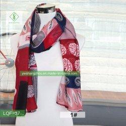 Fashion Lady Schal Aus 100% Viskose Blatt Meer Moslem Schal