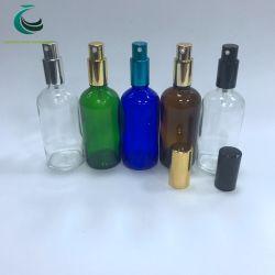 Duidelijke de Leverancier van China/Fles van het Glas van de Essentiële Olie van de Nevel van het Kobalt de Blauwe/Amber/Groene met de Spuitbus van de Pomp