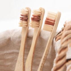 Hölzerne materielle BambusRecoverable&Biodegradable Zahnbürste in der weichen Arbeitsweg-Pinsel-Bambus-Zahnbürste