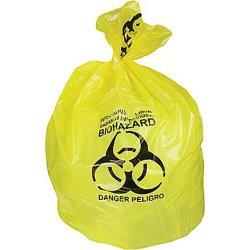 Sacchetto di immondizia dell'ospedale di Biohazard con il sacchetto residuo infezione/di stampa