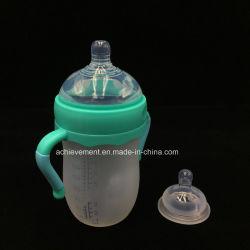 Bottiglia per il latte d'alimentazione del bambino di temperatura con l'alimentatore del silicone degli alimenti per bambini