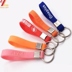Conception personnalisée Trousseau trousseau de clés en caoutchouc de silicone, avec bracelet, porte-clés (XY-ST-006)