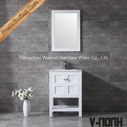 La moderna de madera maciza de disipador único cuarto de baño y lavabo