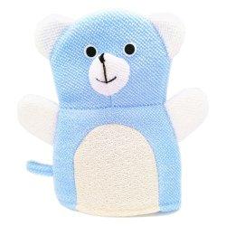 漫画の青は小熊座おもちゃの柔らかいスクラバーのシャワーの子供の子供のためのミットの手袋、赤ん坊、幼児を浸す洗浄の赤ん坊の浴室を着色した