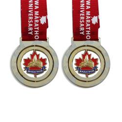 На заводе прямой продажи Custom Канада марафон спорта металла золотую медаль (064)