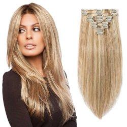Clip Hair Extension 100% Brasileña Virgen Cabello Remy grado Cabello