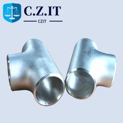 La norme ANSI en acier inoxydable sans soudure SS304 SS316 directement le raccord du tuyau en acier inoxydable de raccord en T