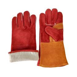 도매 고품질 주문을 받아서 만들어진 형식 긴 팔목 가죽 열 용접 일 안전 장갑