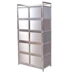 Le serie della mobilia della casa del doppio di prezzi di fabbrica impermeabilizzano l'armadietto d'acciaio del guardaroba