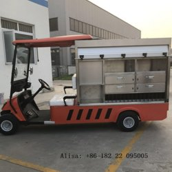 Aprovado pela CE 2 Lugares Elevadores eléctricos de carrinhos de golfe Hotel Food Truck