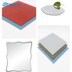 Toda la venta 1.8 2 2.5 3 4 5 6 8 10mm Splash Back de vidrio de la pintura de vidrio lacado// baño Cuarto de baño de plata de aluminio Cristal espejo LED