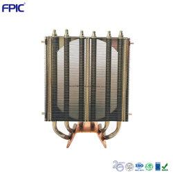 La perforation de la rue nageoire du dissipateur de chaleur de la lampe LED de refroidissement du radiateur personnalisé