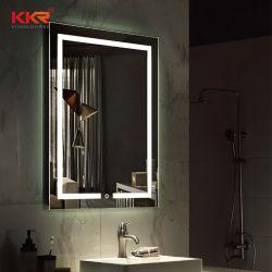 Высокое качество поверхности твердых материалов раковиной со светодиодной подсветкой зеркала заднего вида