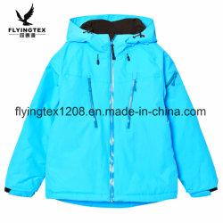子供の冬のコートの男の子および女の子100%年のポリエステルHoodieのジャケット