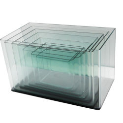 La coutume de la courbe de haute qualité ultra de l'aquarium en verre clair
