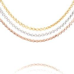 2021 Nouveau design de mode or 18K 316L'acier Stainlesss Belcher Rolo bijoux collier