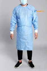 La FDA La certification ISO Ce ACS 40GSM SMS robe robe blouse de laboratoire de l'isolement des vêtements de protection personnelle