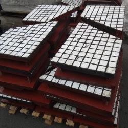 500*500*31mm Revêtement d'usure de la céramique en caoutchouc de chutes