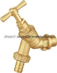 Tipo do REINO UNIDO Bibcock latão com/sem válvula de retenção com cor de bronze (ZX-2103)