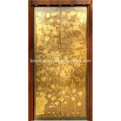 Grabado de acero inoxidable acabado en Panel de puerta del elevador de pasajeros Decoración