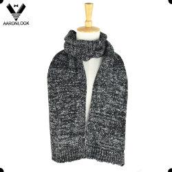 Noir blanc hiver hommes tricotés foulard silencieux