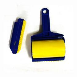 Rodillo pegajoso reutilizable y Pincel Polvo Limpiador de pelusas ropa Selector de rodillo de pelusa removedor de pelo de mascotas muebles cepillo limpiador de ESG12257 Asiento de coche