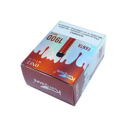 カスタムロゴの印刷のボール紙白いカラー電気タバコの包装ボックス
