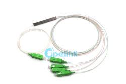 1X4 de 0,9 mm divisor de fibra SC/APC Blockless PLC Splitter de fibra óptica