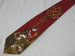 Diseño Santa 100% seda Printng corbatas de regalo