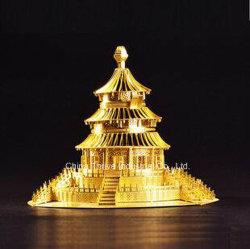 Modelo de metal em 3D -Templo dos Céus