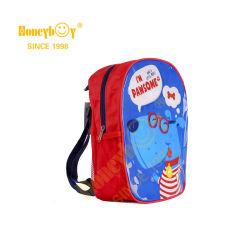 600d и ПВХ трубы для печати детский рюкзак с боковой сетчатый карман