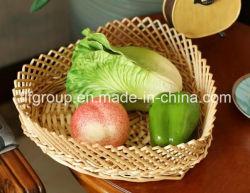 Дружественность к окружающей среде настраиваемые вручную плетеной фрукты лоток в форме сердца