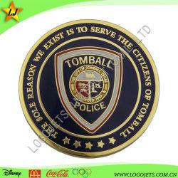 デザインを解放しなさい! ! ! 両側の昇進のギフトのための模造堅いエナメルの警察の硬貨で満たされて着色しなさい