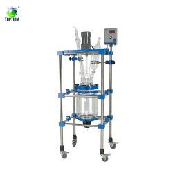 Industrieller Glasreaktor ummantelte Glasreaktor für Weed Extract Glas Reaktor 50 l