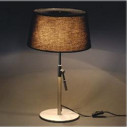 Hôtel moderne contemporain Desk voyant de lampe de table pour la chambre, salon, salle d'étude, en tissu noir de l'ombre, la hauteur peut être réglable