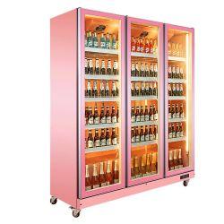 슈퍼마켓 강직한 음료 냉각기 유리제 문 냉장고 Feezer