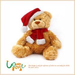 Juguete de peluche Oso Santa Osito de peluche de regalo de Navidad con Santa tela