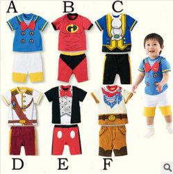 Los niños al por mayor ropa ropa de bebé con mangas cortas de moda Caballero T-Shirt palo