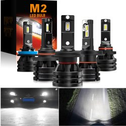 M2 conducido coche faro H4 H7 H1 H8 H11 9005 HB3 9006 HB4 9012 H27 la luz de cruce de lente de foco alto LÁMPARA DE LED H4 H7 Turbo motocicleta bombilla LED