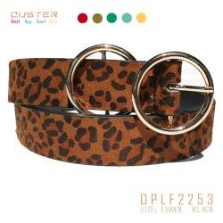 Мода ремня привода вспомогательного оборудования моды Lady Classic Fashion Leopard зерна PU ремень женщин основных ремень с металлической петли