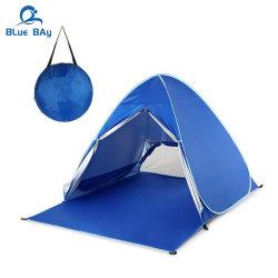 فوقيّة [بورتبل] 2 شخص صيد سمك يفرقع خيمة آليّة فوق شاطئ ظل خيمة