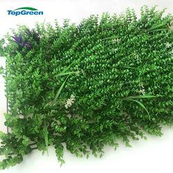 Las plantas de interior o exterior artificial de plástico de pared verde jardín vertical de ornamentos de jardín