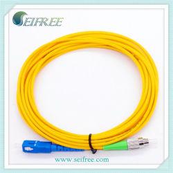 Sc / LC / FC / Mu/E2000 / 3 metros de MPO G657a una cara de fibra óptica monomodo Cable Patch
