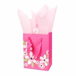 Il marchio impaccante del regalo poco costoso su ordinazione dei commerci all'ingrosso ha stampato i sacchi di carta resi personali