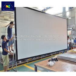 Grande ecrã Projector da estrutura de dobragem da estrutura de serrilha
