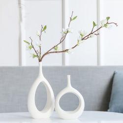 De forma criativa vaso de cerâmica branca quarto com decoração moderna e minimalista Home arranjo floral
