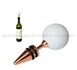 Aleación de zinc OEM pelota de golf de grado alimentario Tapón de botella de vino