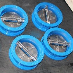 Pressão de retorno Wc Esgoto Cominho Globo Tipo Wafer de Ferro Fundido Mini placa dupla Tipo Mola da Válvula de Retenção