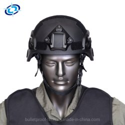 Casco de seguridad balísticos de Kevlar/PE militar casco contra casco antibalas